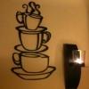 Wallsticker - Kaffe/Kopper