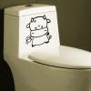 Wallsticker - Lille ko på toilet