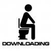 Klistermærke - DOWNLOADING