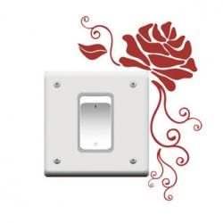 Wallsticker - Rose - kontaktsticker