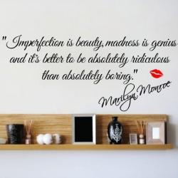 Wallsticker - Imperfection is beauty - Marylin Monroe