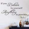 Wallsticker - If you believe in yourself....