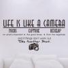 Wallsticker - Life is like a camera