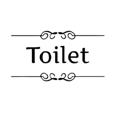 Toilet klistermærke - Old Style