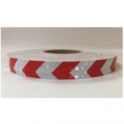 Refleks Type 4 Rød/Hvid Pile 2,5 cm