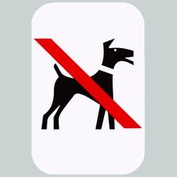 Hund forbudt skilt 30 x 20 cm